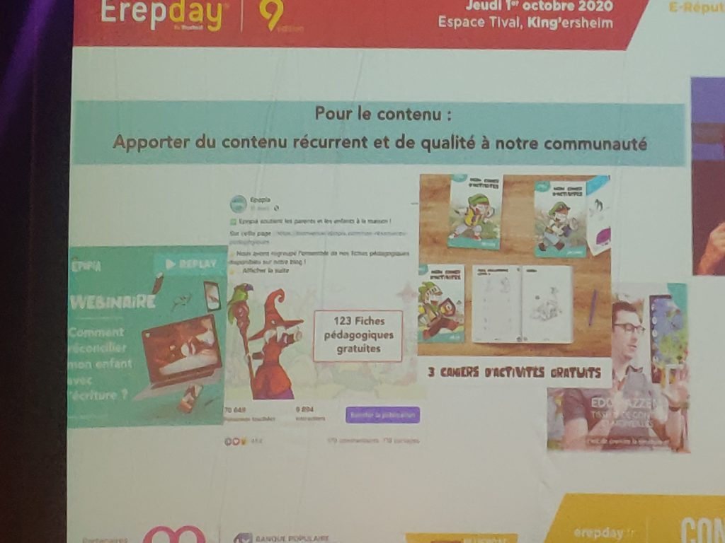 Erepday : Epopia strategie de contenus